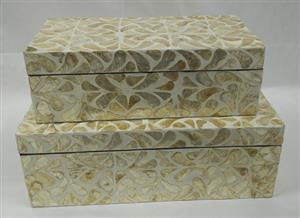 Capiz shell -Boxes 6